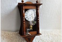 Piękny zegar wiszący z wahadłem + kluczyk do nakręcania