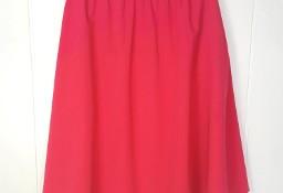 Różowa spódnica Nife 44 XXL kieszenie midi fuksja za kolano rozkloszowana