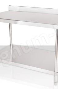Stół gastronomiczny, roboczy, stalowy 120x70x85 z rantem-2
