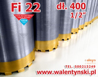 Wiertło koronowe Fi 22 mm diamentowe Koronka tyrolit baier bosch