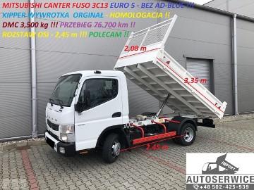 Mitsubishi Fuso CANTER FUSO 3C13 EURO 5 KIPPER WYWROTKA HOMOLOG.