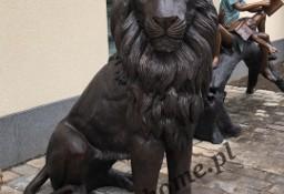 Lew z brązu H150cm , figura z brązu
