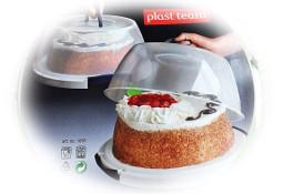 Pojemnik okrągły na Tort, ciasto PLAST TEAM Nowy