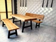 Meble dębowe,stół,ławka ,meble drewniane,ogrodowe,huśtawka