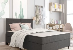 vidaXL Rama łóżka, szara, tapicerowana tkaniną, 180 x 200 cm287466