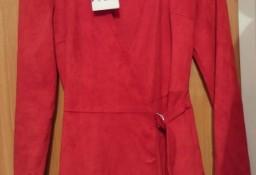 (XS) ZARA/ Czerwony, marynarkowy kombinezon biznesowy z Madrytu