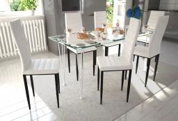 Zestaw jadalniany, krzesła 6 szt. + 1 szklany stół, biały271692