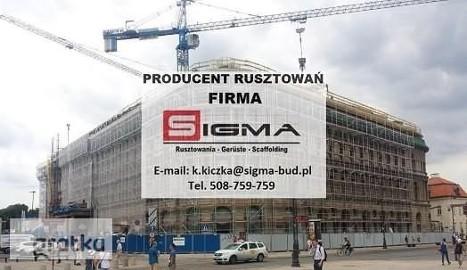RUSZTOWANIA Sieradz Łódź Producent Rusztowań Rusztowań SIGMA J. Nowak