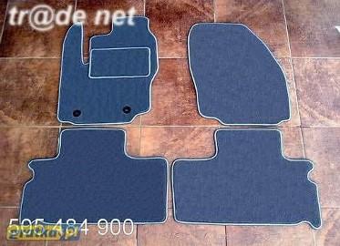 Ford S-MAX od 05.2006 do 2010 r. 2 rzędy DUŻY WZÓR najwyższej jakości dywaniki samochodowe z grubego weluru z gumą od spodu, dedykowane Ford S-MAX
