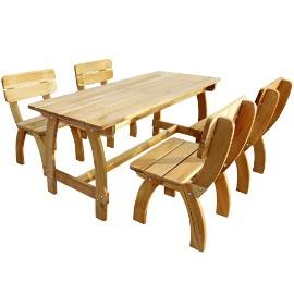 vidaXL 5-cz. zestaw mebli ogrodowych, impregnowane drewno sosnowe 273756