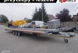 LT-050 przyczepa 850x210cm ALU-STAL, do 2 pojazdów, ciężarowa, laweta prosta, 3 osiowa, wzmacniana, DMC 3500kg