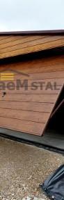 GARAŻ blaszany DREWNOPODOBNY imitacja drewna POZIOM-4