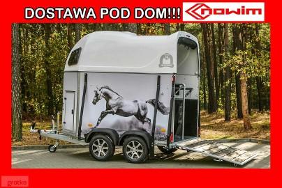 25.20.305 Przyczepa dwukonna Mustang-Strong Laminax bez siodlarni końska koniara wózek do konia transport zwierząt przewóz koni bydła ...