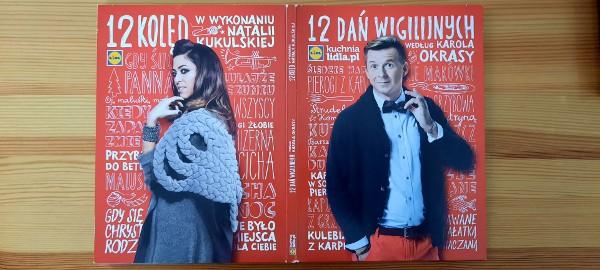 12 dań wigilijnych DVD, 12 kolędCD , 12 przepisów Książeczka,