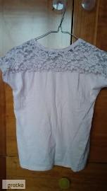 koszulka dziewczęca 134 krótki rękaw różowa