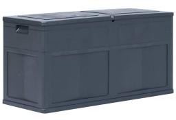 vidaXL Skrzynia ogrodowa, 320 L, czarna 45688