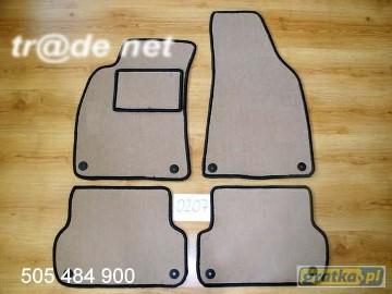 AUDI A4 B6 quattro 11.2000 - 2004 najwyższej jakości dywaniki samochodowe z grubego weluru z gumą od spodu, dedykowane Audi A4