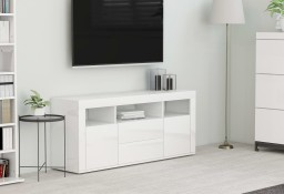 vidaXL Szafka TV, biała, wysoki połysk, 120x30x50 cm, płyta wiórowa801820