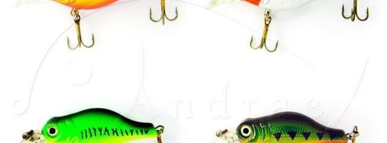 Woblery SPRO B.B.Crankbait 5cm waga 7g zest. 4 szt. (4)-1