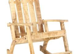 vidaXL Ogrodowy fotel bujany, lite drewno mango285883