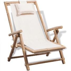 vidaXL Leżak tarasowy, bambus 41893