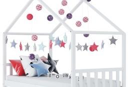 vidaXL Rama łóżka dziecięcego, biała, lite drewno sosnowe, 90 x 200 cm283369