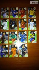 karty piłkarskie z Piłkarzami 15 sztuk
