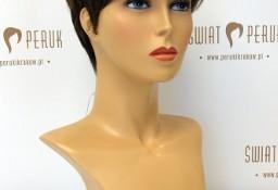 Peruka krótka z włosa syntetycznego w ciemnym kolorze Radomsko