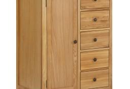 vidaXL Szafka, 76x52x105 cm, lite drewno dębowe289199