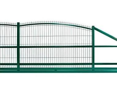 Brama przesuwna posesyjna wzór wypukły 150x400cm-1