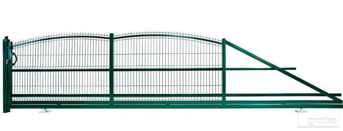 Brama przesuwna posesyjna wzór wypukły 150x400cm