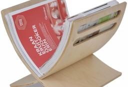 vidaXL Drewniany stojak na gazety w naturalnym kolorze241217