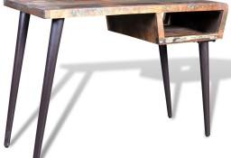 Drewniane biurko z metalowymi nogami241138
