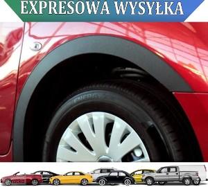 VW EOS COUPE '06-10 Nakładki listwy na błotnik chrom / czarny mat. Volkswagen Eos