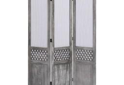 vidaXL Parawan 3-panelowy, szary, 105 x 165 cm, tkanina284215