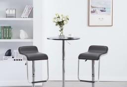 vidaXL Obrotowe stołki barowe, 2 szt., czarne, sztuczna skóra246925