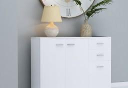 vidaXL Komoda, biała, 105 x 30 x 75 cm, płyta wiórowa800693
