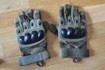 Rękawice taktyczne wojskowe militarne zielone (army green) pełne palce