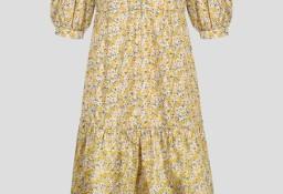 Nowa sukienka Orsay 36 S bawełniana w kwiaty wzór floral midi długa prerie wieś