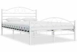 vidaXL Rama łóżka, biała, metalowa, 120 x 200 cm 285302