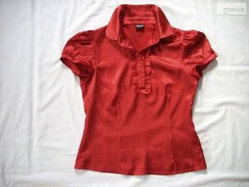 Bialcon Satynowa Koszula Bluzka Żabot j Nowa 36 38