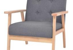 vidaXL Fotel, ciemnoszary, tkanina244651