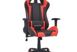 vidaXL Rozkładane krzesło biurowe, sportowe, sztuczna skóra, czerwone20172