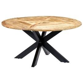 vidaXL Stół jadalniany, okrągły, 150 x 76 cm, lite drewno mango282763