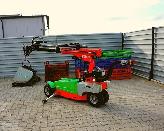Wózek elektryczny – transport płyt kamiennych Elektryczny transport, przewóz roślin BEFARD