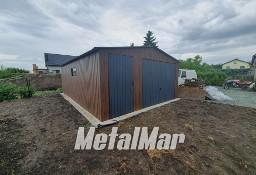 Garaż z drzwiami oraz bramą drewnopodobny Solidny Profil