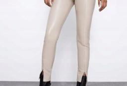 (40/L) ZARA/ Skórzane legginsy/ spodnie/.rurki z Madrytu/NOWE
