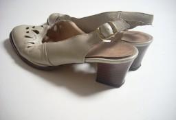 Skórzane buty wiosna lato Ażurowe 40