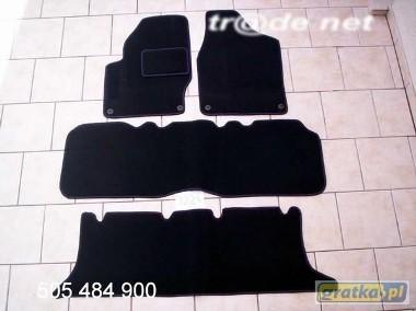 VW Sharan 1995-2000 3 rzędy najwyższej jakości dywaniki samochodowe z grubego weluru z gumą od spodu, dedykowane Volkswagen Sharan-1