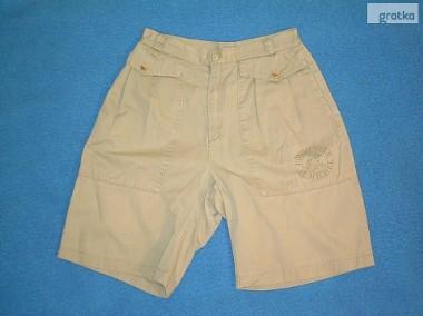 Krótkie spodnie, męskie - khaki.-1